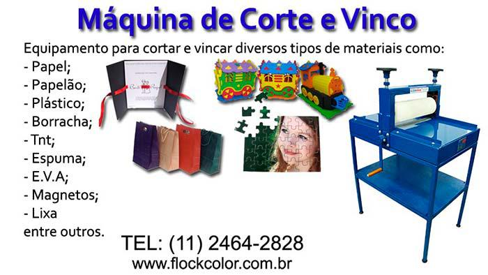 Máquina de corte e vinco manual