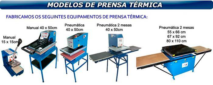Prensa térmica pneumática preço