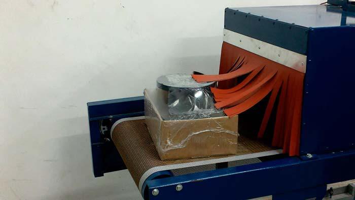 Seladora manual com túnel de encolhimento