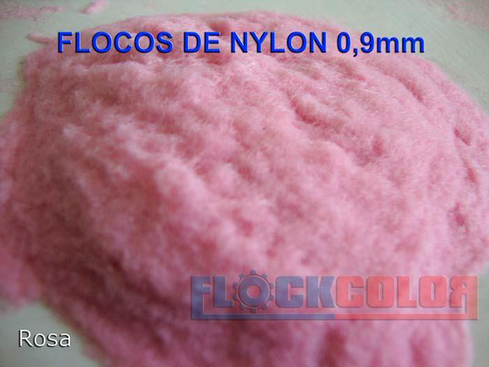 Flocos de nylon