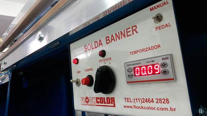 Máquina solda banner